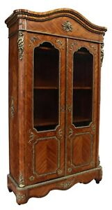 Antique Bookcase, Armoire, French Louis XIV Style Ormolu-Mounted, 1800's, Beauty
