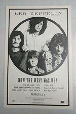 "Led Zeppelin * How The West Was Won * Promo Poster * 11"" x 17"" rare limited"