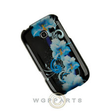 Samsung R480 Freeform 5 Shield Blue Flowers Case Cover Shell Protector Guard