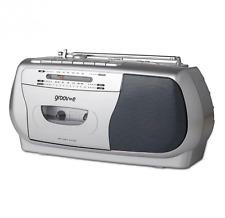 Groov-e Retro Series Portable Cassette Headphones Player/Recorder Radio Silver