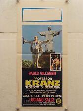 PROFESSOR KRANZ TEDESCO DI GERMANIA regia Luciano Salce locandina orig. 1978