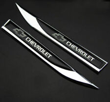 NEW 2pcs Metal Black for chevy Blade FENDER BADGE Emblems Sticker for sport