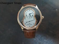 Jaquet Droz padded brown crocodile belly strap Cheergiant hand made watch strap