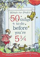 Winnie-the-Pooh's 50 things to do before you're 5 3/4 by Milne, A. A., NEW Book,