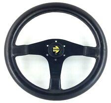 Genuine Momo Cavallino 2 350mm leather steering wheel. Retro classic, 1990.   8A