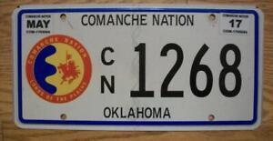 SINGLE COMANCHE NATION of OKLAHOMA TRIBAL LICENSE PLATE - 2017 - 1268