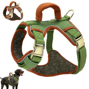 No Pull Medium Large Dog Harness Reflective Soft Mesh Pet Walk Vest with Handle
