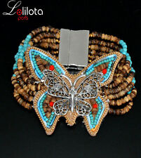 Luxus Breit Armband Ibiza Brasilien Magnetverschluss Lolilota Paris Edelstein
