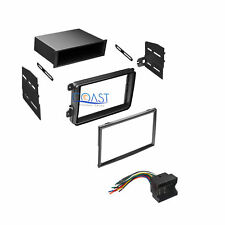 Single Double Din Car Stereo Dash Kit with Harness for 2005-2010 Volkswagon VW