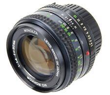 Minolta MD Rokkor 50 mm 1.4 Mount Minolta MD Lens (Réf#A-051)