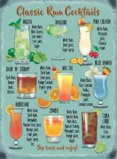 New 30x40cm Classic Rum Cocktail recipe metal advertising wall sign