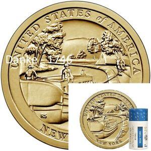 2021 P American Innovation $1 Dollar Erie Canal New York 1 ROLL - PHILADELPHIA