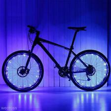 Waterproof 20 LED Bike Bicycle MTB Wheel Tire Spoke Reflector Strip Light Blue