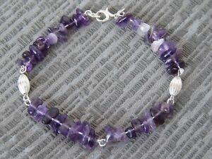 bs25.  Semi Precious Stone Amethyst Bracelet
