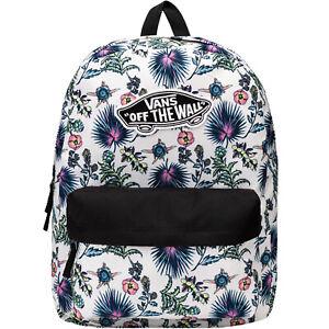 Vans Unisex Adults Realm Adjustable Backpack Rucksack Bag - Floral