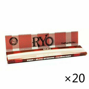 20 Booklets Hemp Cigarette Smoking Rolling Papers 108*36mm 640 leaves