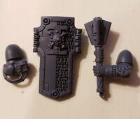 Warhammer 40k Space Marine Deathwatch Army Bits: Power Maul & Storm Shield Set L