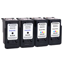 4 PACK PG210XL CL211XL Ink Cartridge for Canon PIXMA MP240 MP250 MP270 MP280 &*