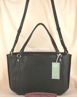 Radley Hanover Square Multiway Cross Body or Grab Bag Black Leather Medium New