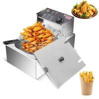 10L Electric Deep Fat Fryer Non-Stick Stainless Steel Healthy Food Frying 6L Oil
