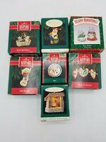 Hallmark Keepsake Ornaments - Lot of 7 Heart of Christmas, Starlit Nativity, etc