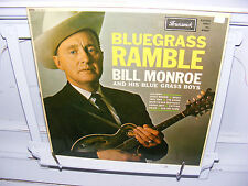 Bill Monroe & Bluegrass Boys LP Bluegrass Ramble 1962 Brunswick UK orig. VG/VG+