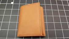 """Genuine Leather """"IDENTITY THEFT PROTECTION"""" TRI-FOLD WALLET TAN BRAND NEW"""