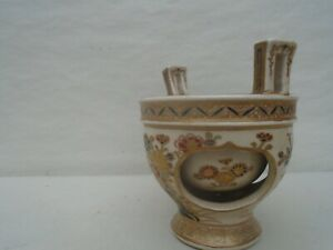 Fantastic Japanese Satsuma incense burner with unusual inner bowl  TAKE A LOOK