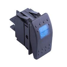12V Led ON/OFF Illuminated Rocker 4Pin Waterproof Switch Car Dash Marine Blue