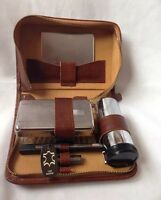Vintage Man Dressing Table Set With Leather Case Made In England