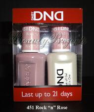 """DND Daisy Soak Off Gel Polish Rock """"n"""" Rose 451 full size 15ml LED/UV gel duo"""