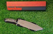 "Kershaw Camp 10, Recurve Point, Plain 10"" Fixed Blade, Full Tang - 1077TAN"