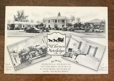 Vintage 1930s Brochure Mt. Vernon Motor Lodges All On U. S. 1 Florida
