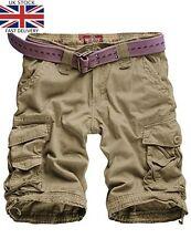 Mens Twill Pantalons Militaires nouveau combat Pantalon & Kaki Short Cargo W-38'' = EU-48