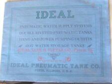 1910'S CATALOG IDEAL TANK & SUPPLY CO PEORIA ILL , FORMER PEKIN WATER PUMP ETC