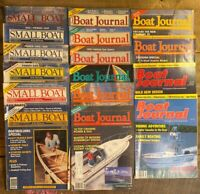 Small Boat Journal Magazine Lot of 16 -1985, 1986, 1987, 1988, 1989, 1990, 1991