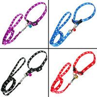 Cute Paw Print Dog Collars and Leads Soft for Small Medium Dogs Puppy Chihuahua