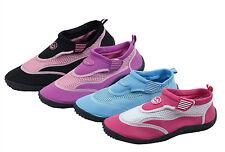 50ad8ea633a Women s Water Shoes Aqua Socks Slip on Hook and Loop Exercise Pool Yoga 4  Colors