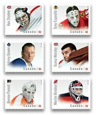 GOALIES = HOCKEY = NHL   Set of 6 DIE CUT to shape MNH-VF+ stamps Canada 2015