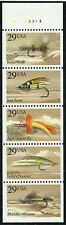 Scott 2549a, Never Folded Booklet Pane - 1991 Fishing Flies Issue - MNH