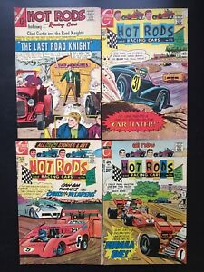 HOT RODS AND RACING CARS # 85 105 108 119 1967-73 Clint Curtis and Road Knights