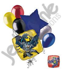 7 pc Batman & Joker Balloon Bouquet Super Hero Theme Happy Birthday Marvel Party