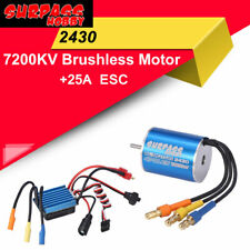 SURPASS HOBBY 2430 7200KV Sensorless Brushless Motor 25A ESC For RC Car 1/18