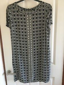 M&S Collection Ladies Short Sleeve  Dress - Size 16