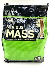 OPTIMUM NUTRITION SERIOUS MASS Chocolate Peanut Butter 12 lb Protein Powder 1/22