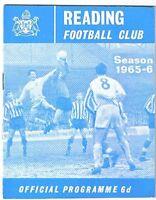 Reading v Exeter City 1965/6