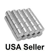 "Lot 1/2"" 3/4"" 1"" 1/4"" 5/16"" Neodymium Rare Earth Cylinder Disc Magnets N48 N50"