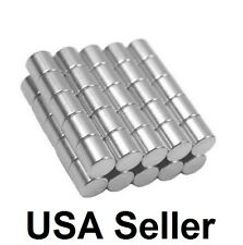 1/4 x 1/4 Inch Strong Neodymium Rare Earth Cylinder Magnets N48 Wholesale