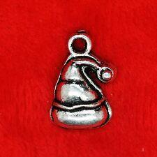 10 x Tibetan Silver XMAS Christmas Santa Hats Charm Pendant Finding Bead Making