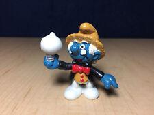 Smurfs 20504 Thomas Edison Historical Smurf Figure Vintage 1984 PVC Toy Figurine